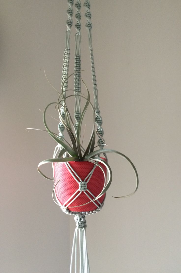 macrame plant hanger by the planter pod