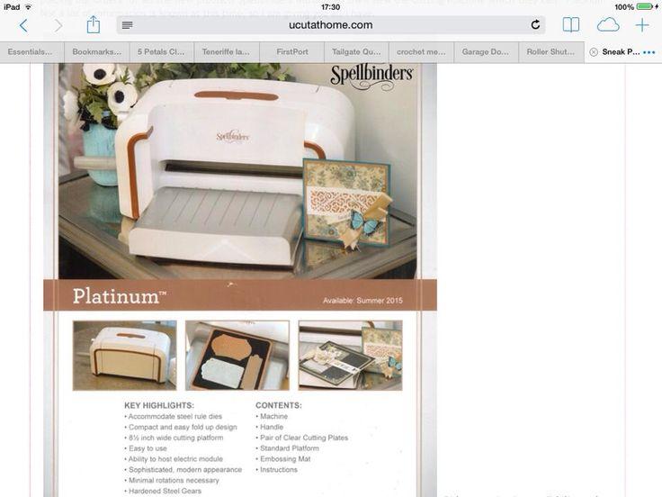 spellbinder platinum machine