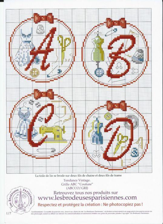 Alphabet sewing 1