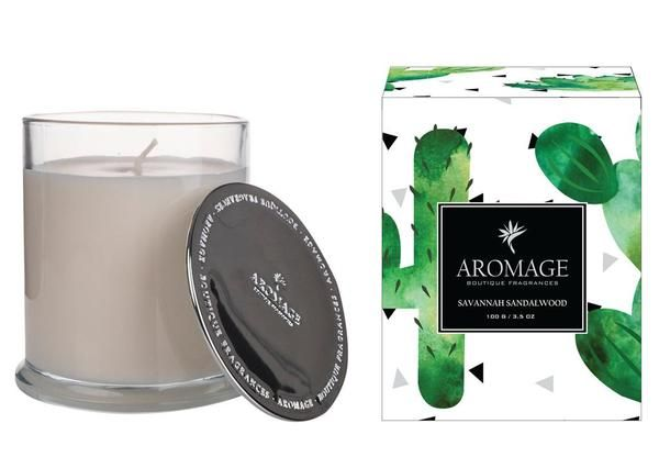 Indulge your senses with the beautifully scented Aromage Scented Savannah Sandalwood Candles. These scented candles have been hand-crafted using only the very best 100% natural soy blend wax. These luxuries Aromage Scented Candles make a gorgeous gift for someone special or treats yourself instead. Delivery available Australia wide.  #interiordesign #interiordesigner #interiordesigners #interiordecorating #fragrances #soycandles #soycandlesforsale #gift #gifts #homedecor