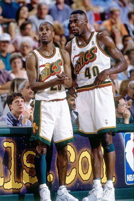 Shawn Kemp and Gary Payton
