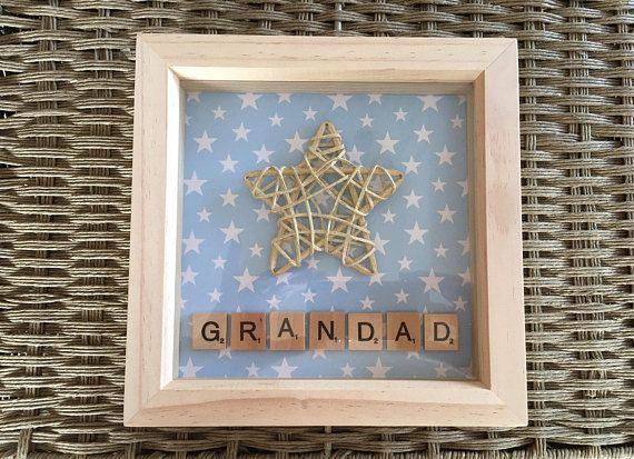 "Unique Star Frame perfect Father's Day Gift for any ""Star Dad"" ""Star Daddy"" ""Star Grandad""  Father's Day Gift Idea??"