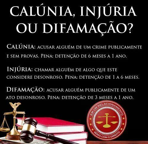 Calunia ou Difamacao