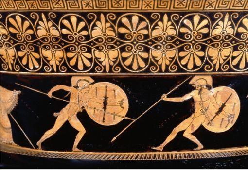 Vaso para misturar vinho com água, 500 – 480 aEC. Museu Britânico, Londres