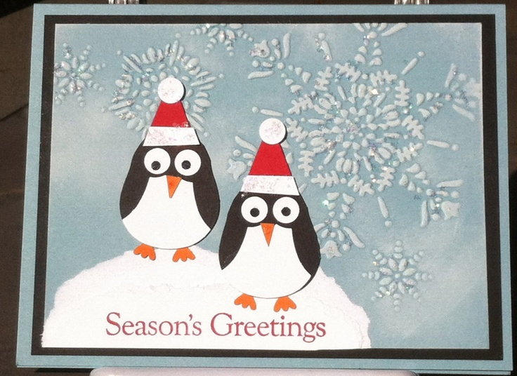 Items similar to penguin seasons greetings card on etsy
