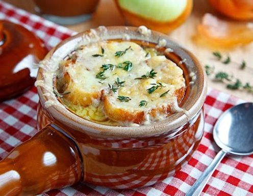 Französische Apfel-Zwiebelsuppe