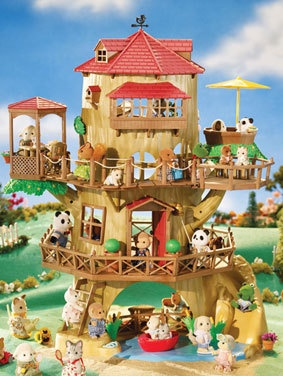 SYLVANIAN FAMILIES Old Oak Hollow Country Treehouse~NEW IN BOX~Rare Dollhouse