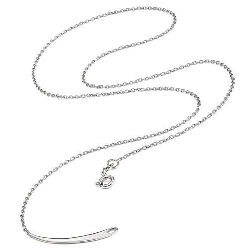 Sterling Silver Stackable Expressions Rose-tone Med Polished Chain Slide