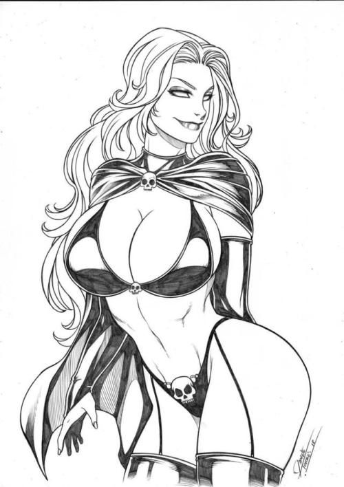 Lady Death Gothic Sketch Art
