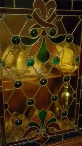 ≥ 2 delige Kast eikenhout met glas en lood deurtje - Antiek | Meubels | Kasten - Marktplaats.nl
