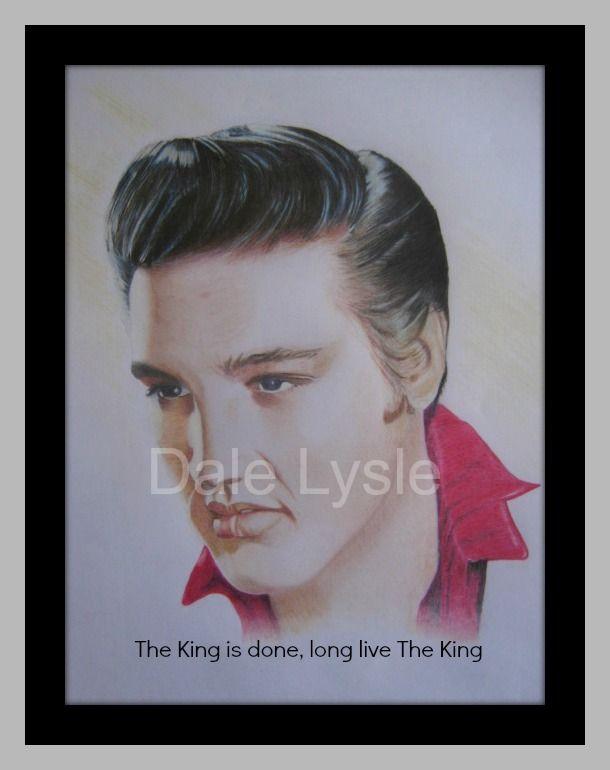 "FOR SALE - $45.00. Elvis ""The King"" Presley A3 Polychromos coloured pencils Prints only - Not Framed"