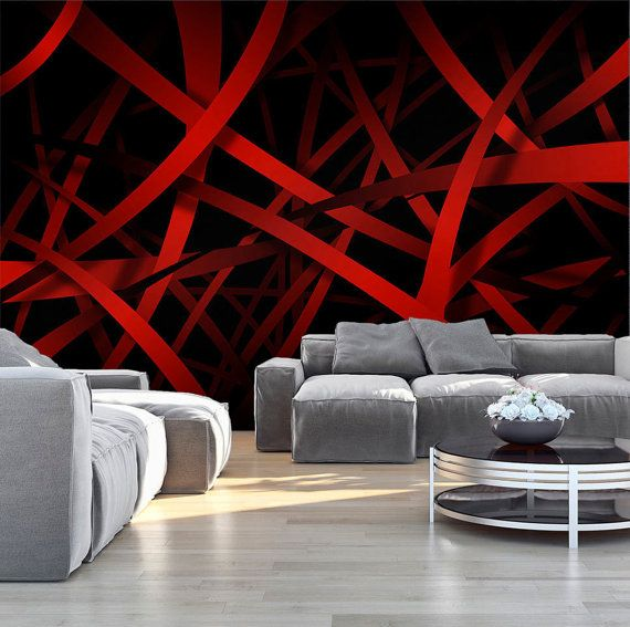 Photo Wallpaper Wall Murals Non Woven 3d Modern Art Optical Illusion Red Abstract Wall Deca Wallpaper Designs For Walls Design Your Dream House Home Wall Decor