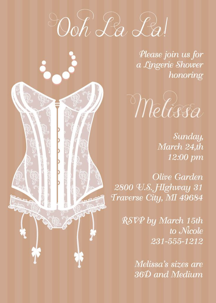 Bridal Shower Vintage Lingerie Invitations