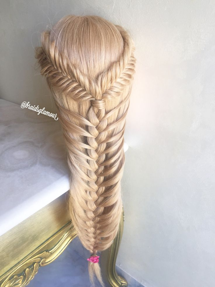 Fishtails into mermaid braid