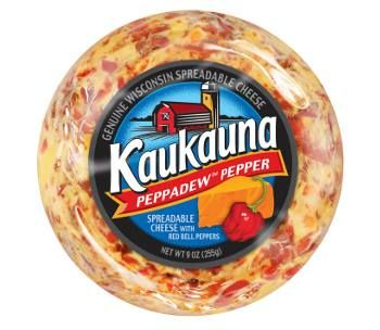 New product launch - Kaukauna Cheese launched a spicy-sweet Peppadew pepper cheese ball. It is a seasonal item that can be found in stores likes Kroger, SuperValu, Krogers, Giant Eagle, and Albertsons Market through February.  Cheese and crackers anyone?   Kaukauna Spreadable Cheese #Cheese #Appetizers #Diary