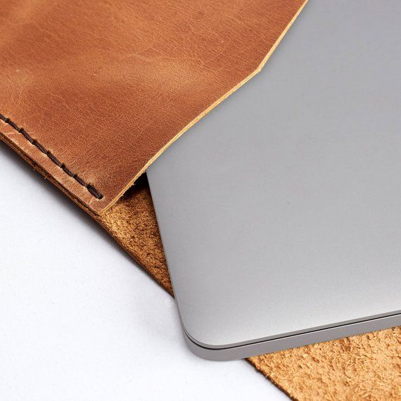 Brown Leather Dell XPS Case, Men Dell XPS 15 inch Sleeve, Handmade Protective Dell XPS 13 inch Lapto