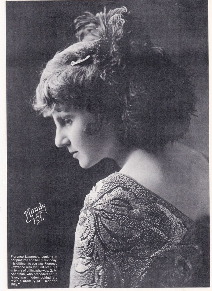 "The First Movie Star Florence Lawrence ""The Imp Girl"" Francis X. Bushman Profile"