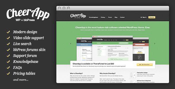 CheerApp - App WordPress + bbPress Theme