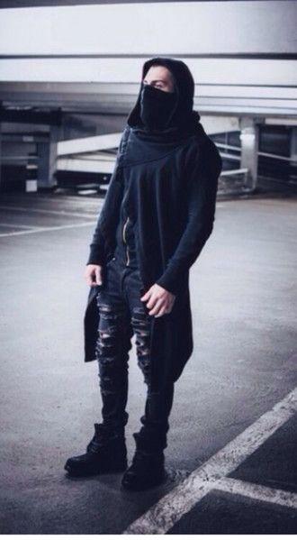 street goth streetstyle goth goth hipster ninja menswear jacket