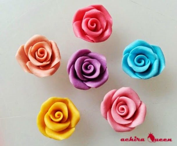 Rose flower clay
