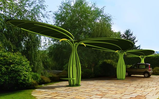 Luminexence Lotus solar car charger is a tree-shaped carport via @CNET.  Now this is a good idea