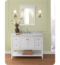 Contemporary Art Websites Fairmont Designs Shaker Americana inch Open Shelf Vanity in Polar White