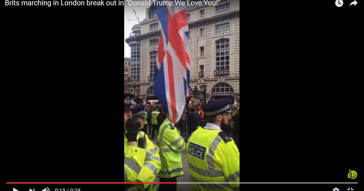 """VIDEO: Warning! Liberal weenies, do not watch this. It will only make you cry. Brits scream over and over """"Donald Trump, we love you!"""" ⋆ Powdered Wig Society http://powderedwigsociety.com/brits-love-trump/"""