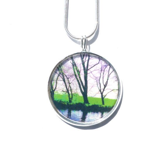 Tree Pendant Necklace, Handmade Jewelry, Original Photography, Photo Jewelry, Necklaces For Women, Silver Jewelry, Wearable Picture Art