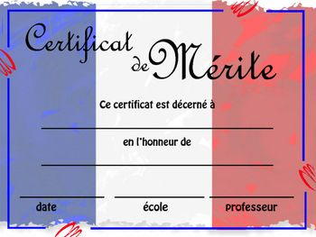 Customizable Certificate of Achievement - French Students ...