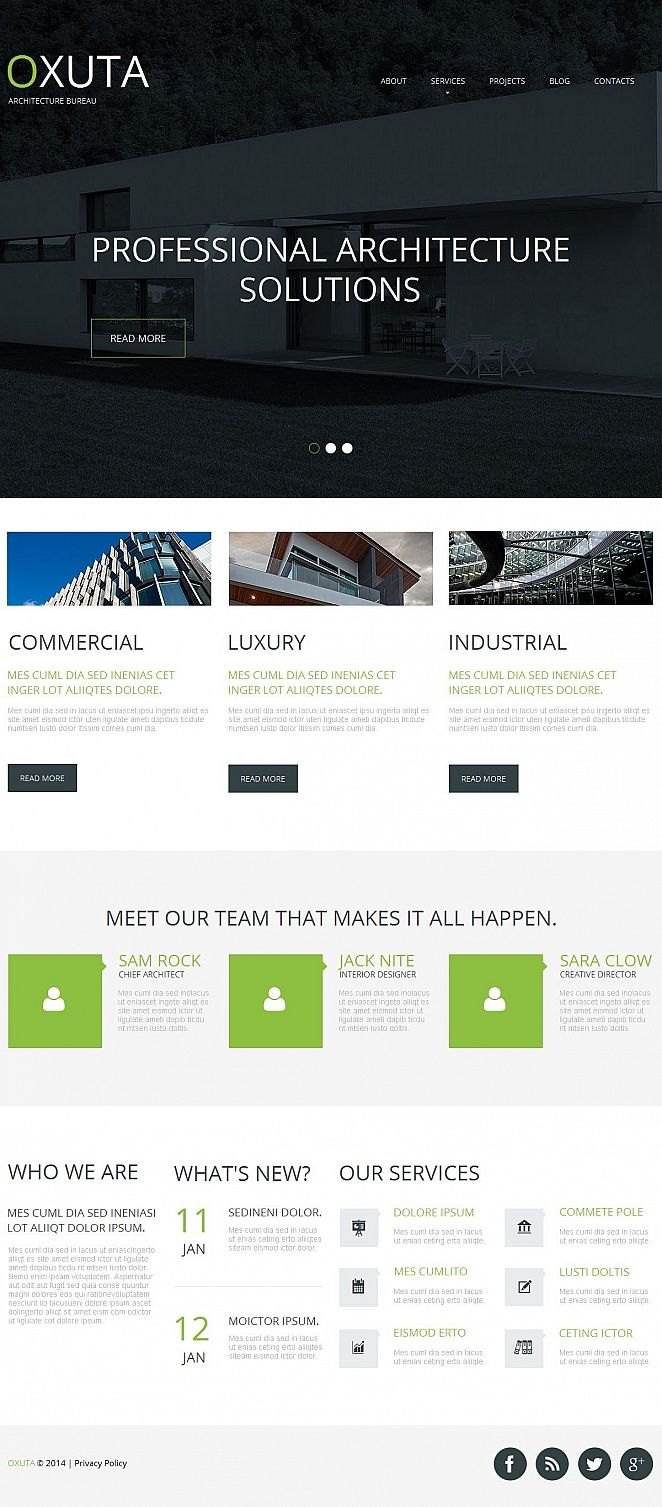 Architecture Moto Cms Html Template 50558 Html Templates Templates Web Design Software