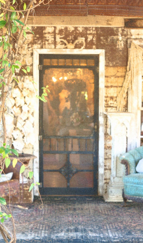 primitive screen door