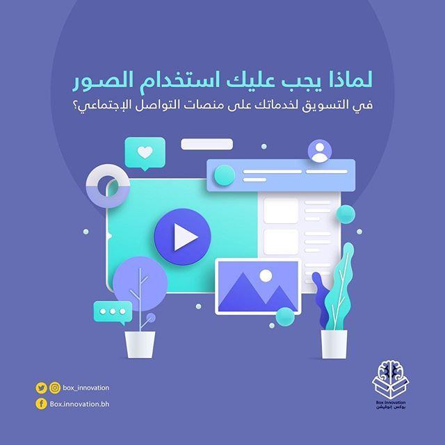 تساعد التصاميم في إظهار خدماتك بشكل سهل وبسيط كما تحظى الصور على منصات التواصل الإجتماعي بنسبة تفاعل أكثر من المحتوى النصي لذ Innovation Map Screenshot Box