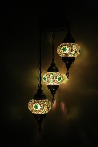 Green Three Piece Turkish Light