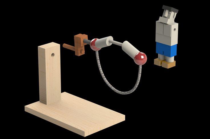 Corda per saltare - STEP / IGES, Parasolid, STL, SolidWorks - modello CAD 3D - GrabCAD