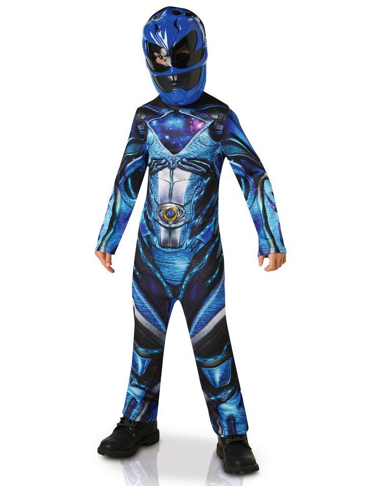 Déguisement Power Rangers™ Bleu - Film : Ce déguisement de Power Rangers™ bleu pour garçon est sous licence officielle. Il se compose d'une combinaison et d'un demi-masque (chaussures non incluses). La...