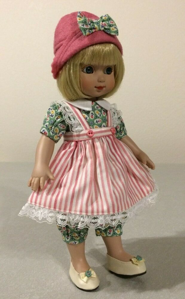 """Pleated Dress Doll Clothes Sewing Pattern 10/"""" Patsy /& Ann Estelle Tonner"""