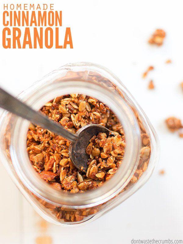 Cinnamon Granola Recipe With Coconut Oil Recipe Jedzenie