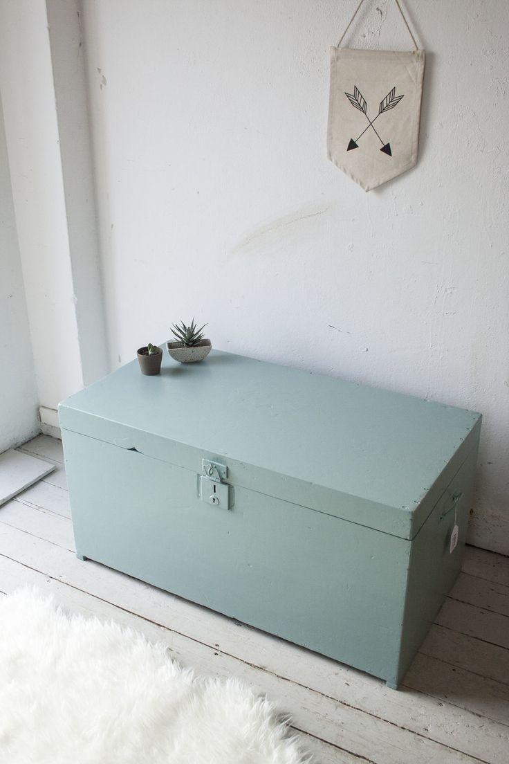 #Vintage blauwgroene #kist   Firma Zoethout.jpg