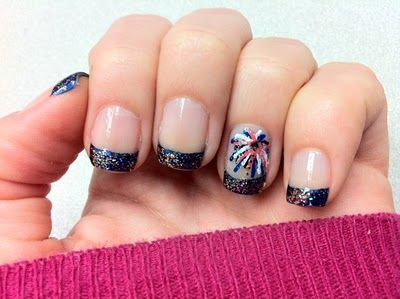 Best 25 firework nails ideas on pinterest new years nail firework nails glitter tips with funky firework design prinsesfo Gallery
