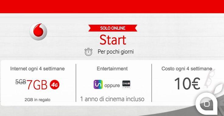 Vodafone GIGA Start: 7GB di traffico in 4G ed 1 anno di Infinity a 10
