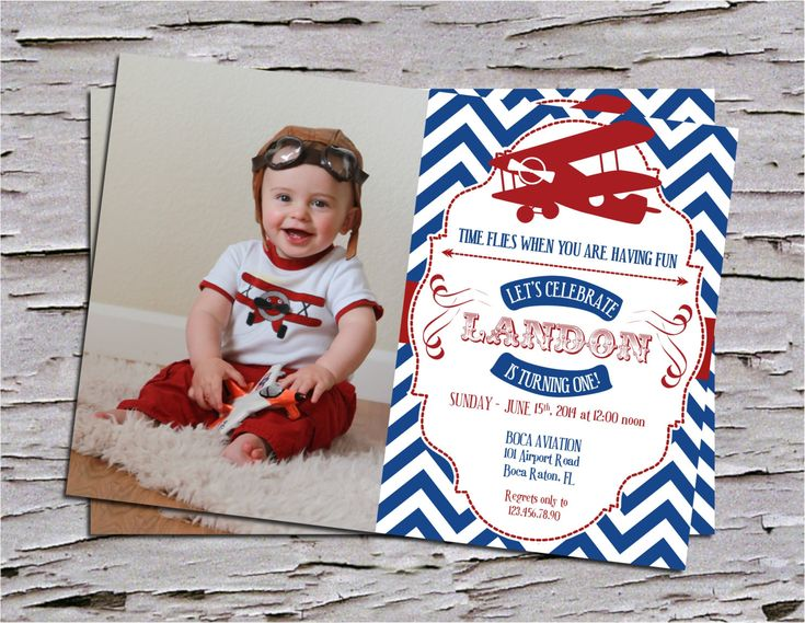 Vintage First Birthday Party Invitation by PoshPaperPartiesCo #vintage #airplane #timeflies #time #flies #invitation #little #pilot