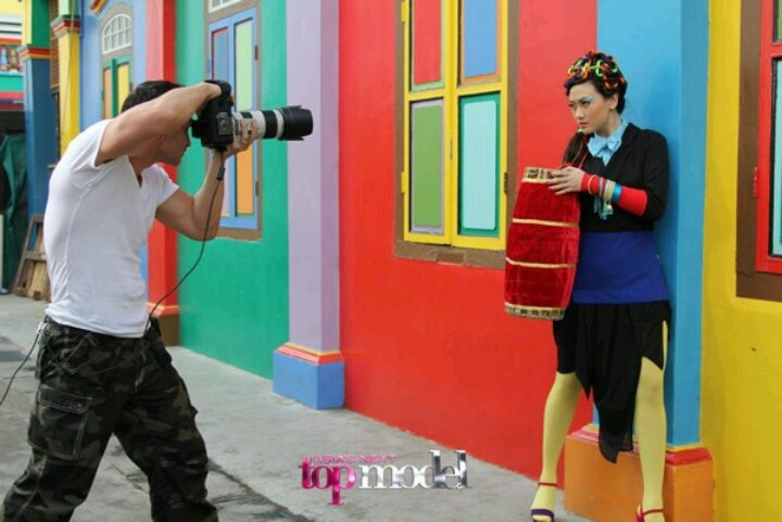 Filantropi in action. photographed by Todd. photo from Asia's Next Top Model FB