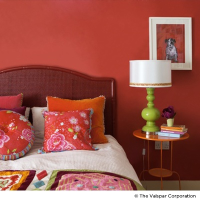 Scarlet Red Painted Rooms