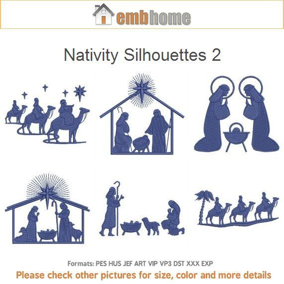 Nativity Silhouettes 2 Scene Religious Bible Machine by embhome