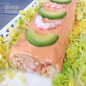 Este brazo gitano de puré con mariscos es un plato tradicional para ocasiones especiales, muy vistoso y preparado con ingredientes sencillos.