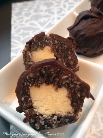 Nanaimo Truffles ~ This would be a tasty treat to have on the long weekend and a great addition to the Nanaimo Bar Trail!