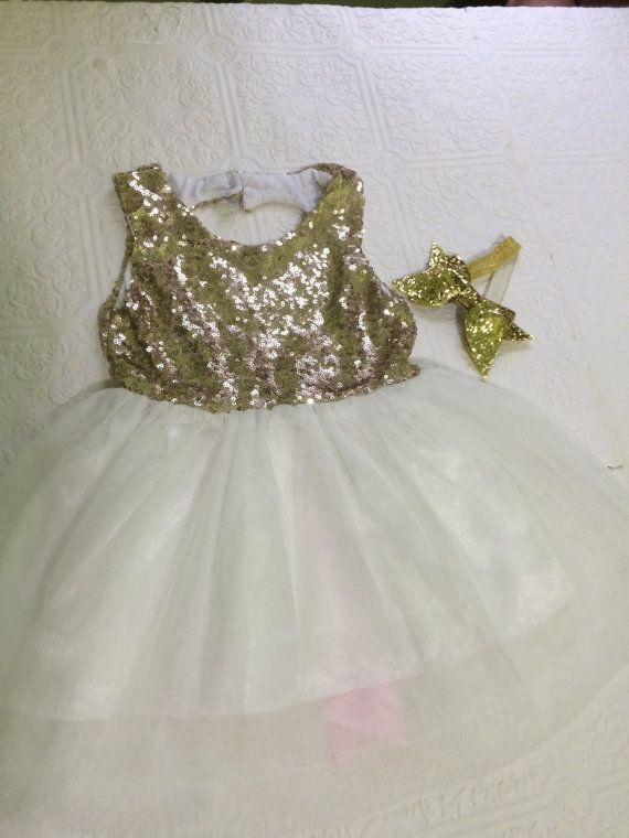 gold and pink dress pink dress gold dress toddler by BazzyBears