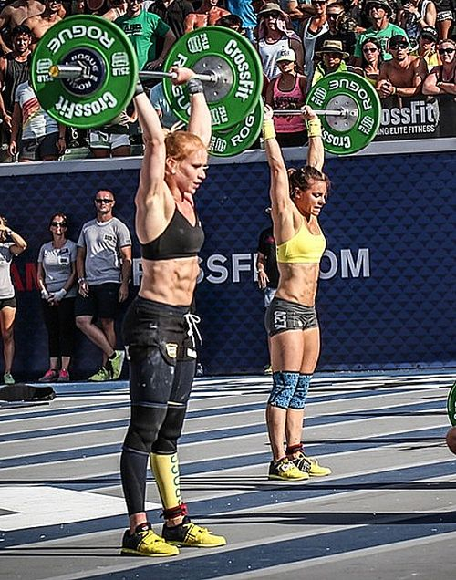 Annie and Julie second and third place in the CrossFit Games! by Rogue Fitness