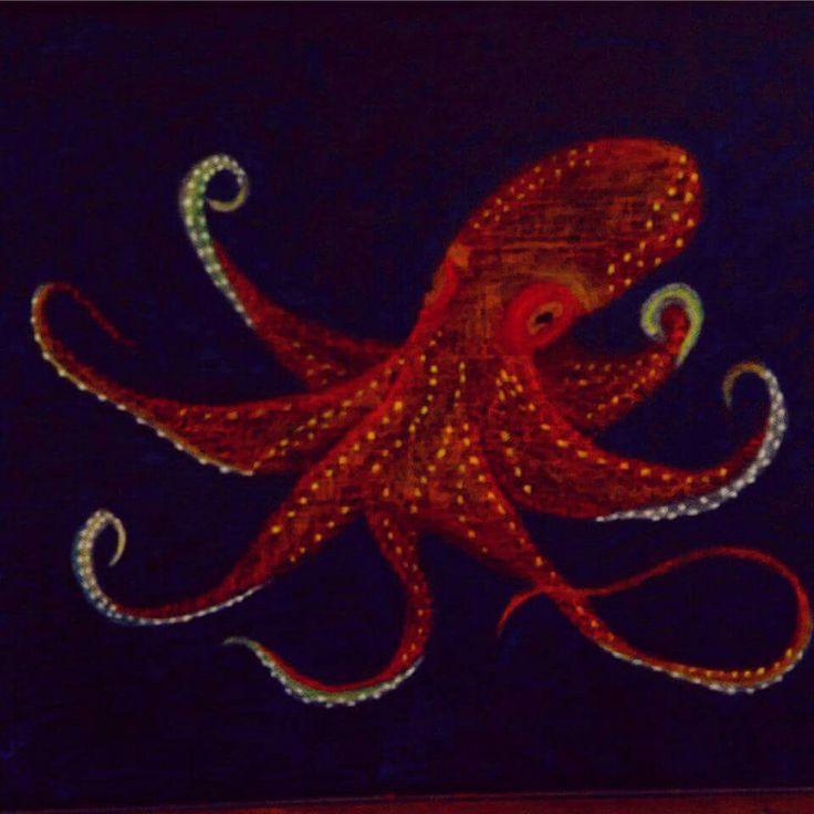 Octopus chalk board drawing grade 4