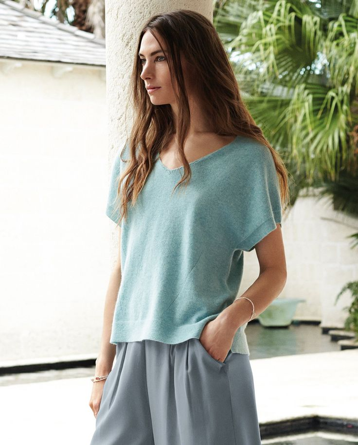 Image of Cashmere Knitted T-shirt